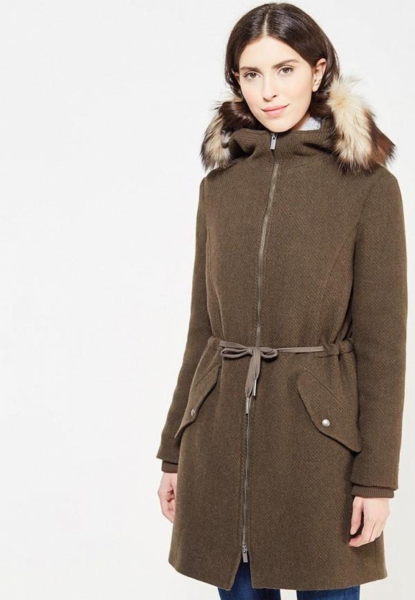 женское пальто united colors of benetton, хаки