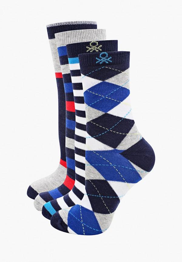 носки united colors of benetton для мальчика, разноцветные
