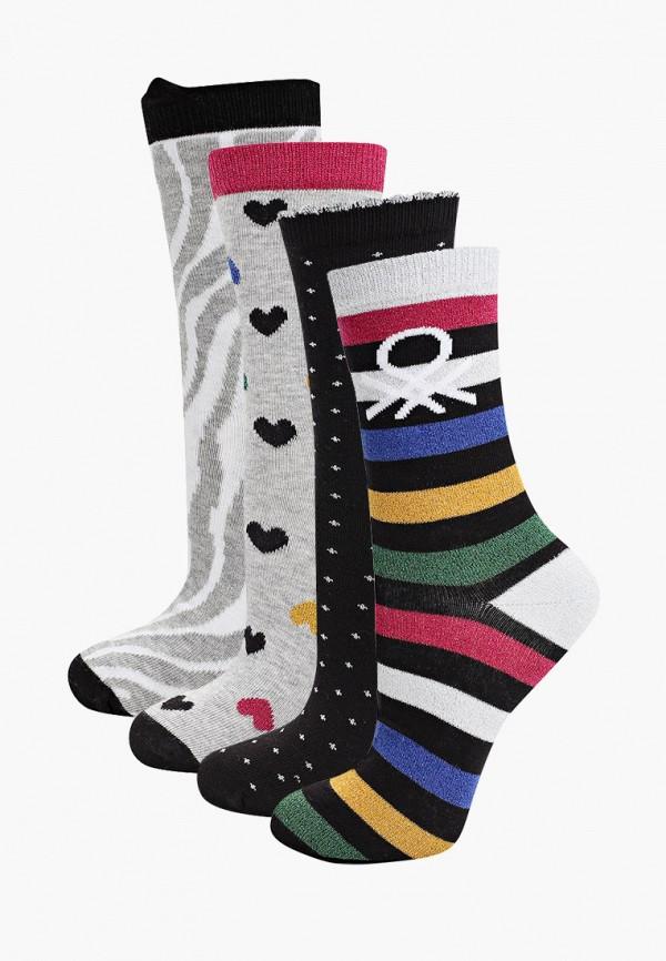 носки united colors of benetton для девочки, разноцветные