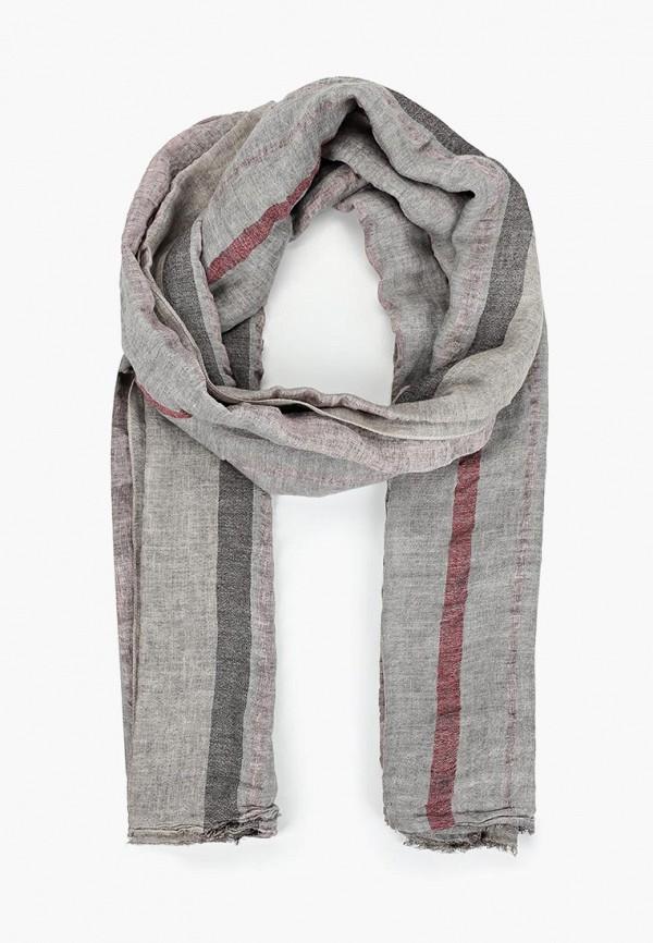 мужской шарф united colors of benetton, серый