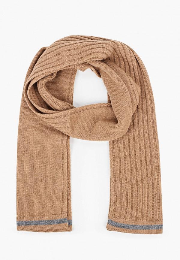 мужской шарф united colors of benetton, коричневый
