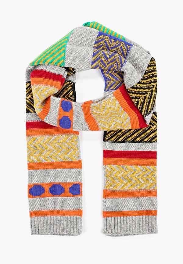 Фото - Женский шарф United Colors of Benetton серого цвета