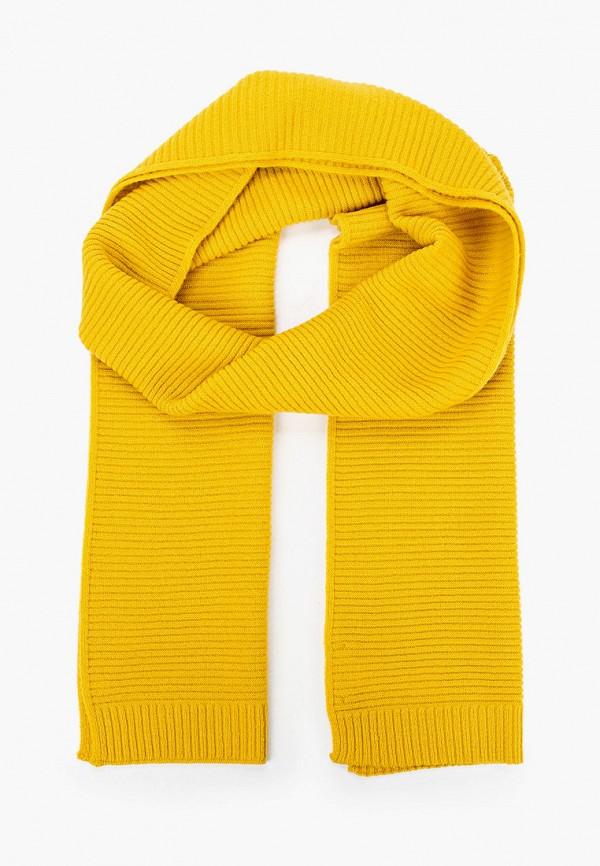 женский шарф united colors of benetton, желтый