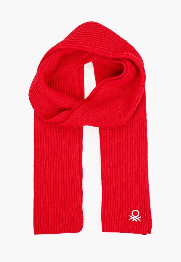 женский шарф united colors of benetton, красный