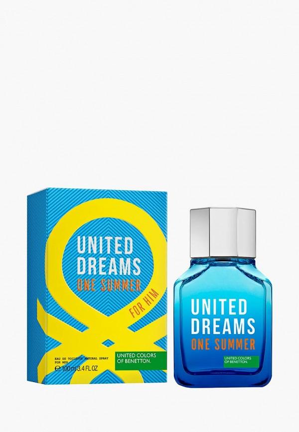 Купить Туалетная вода United Colors of Benetton, One Summer, спрей 100 мл, un012lmbrqj8, синий, Весна-лето 2019