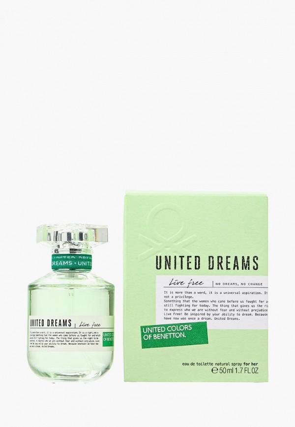 Купить Туалетная вода United Colors of Benetton, United Dreams Live Free 50мл, UN012LWJBO98, Весна-лето 2018
