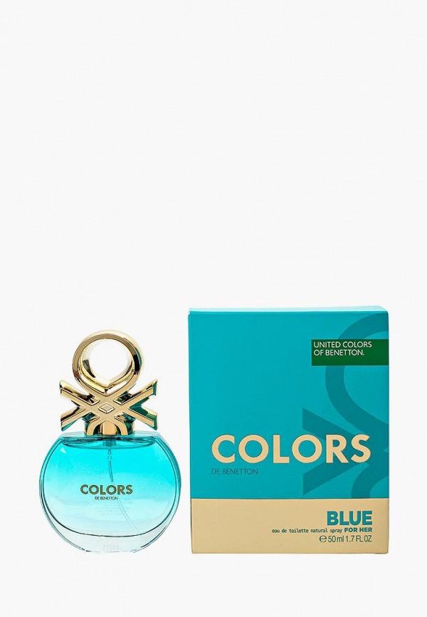 Купить Туалетная вода United Colors of Benetton, Colors BLUE 50 мл, UN012LWMZQ62, Весна-лето 2018