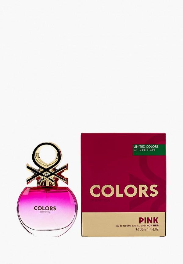 Купить Туалетная вода United Colors of Benetton, Colors PINK 50 мл, UN012LWMZQ64, Весна-лето 2018