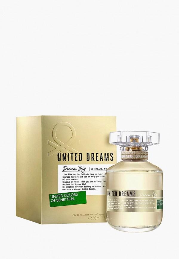 Купить Туалетная вода United Colors of Benetton, Dream Big 50 мл, UN012LWMZQ66, Осень-зима 2018/2019