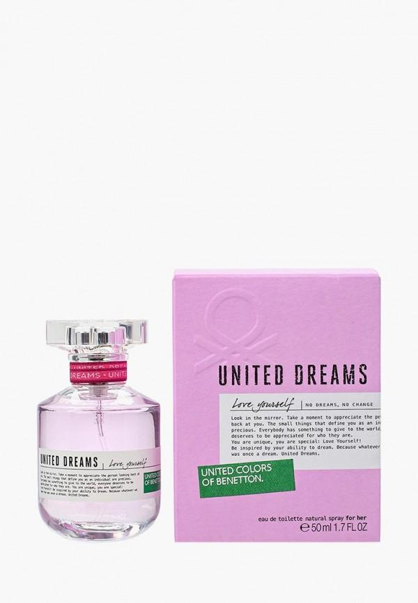 Купить Туалетная вода United Colors of Benetton, United Dreams Love Yourself 50 мл, UN012LWMZQ72, Весна-лето 2018