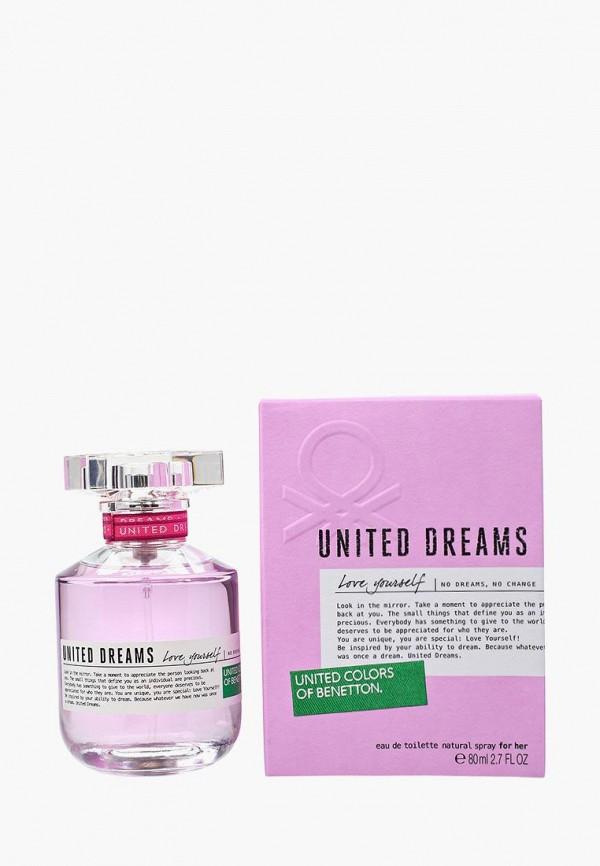Купить Туалетная вода United Colors of Benetton, United Dreams Love Yourself 80 мл, UN012LWMZQ73, Весна-лето 2018