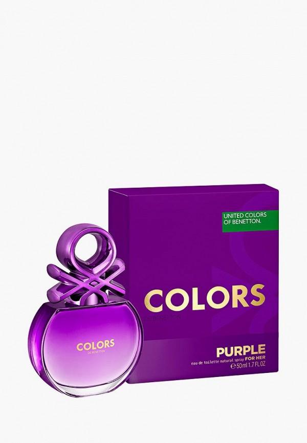 Купить Туалетная вода United Colors of Benetton, Colors Purple, 50 мл, UN012LWZIJ37, Весна-лето 2018