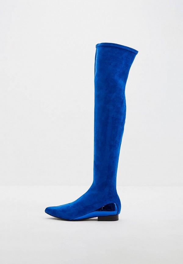 женские ботфорты united nude, синие