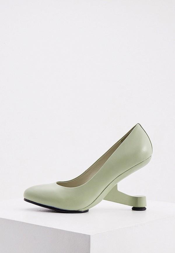 женские туфли с закрытым носом united nude, зеленые