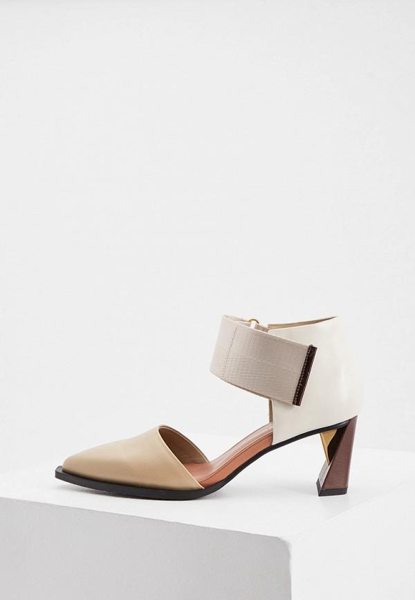 женские туфли united nude, бежевые