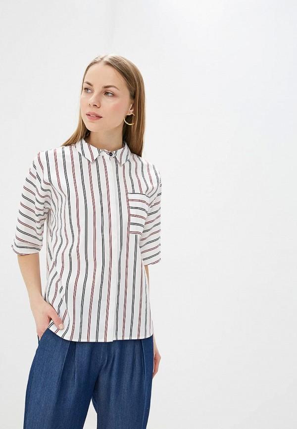 женская рубашка с коротким рукавом unq, белая