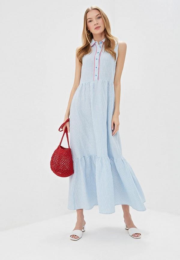 женское повседневные платье unq, голубое