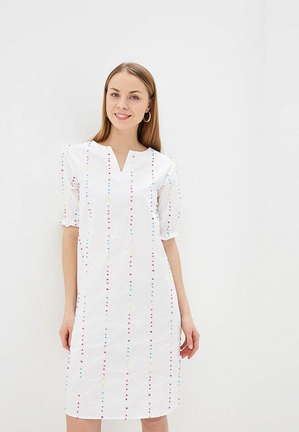 женское повседневные платье unq, белое