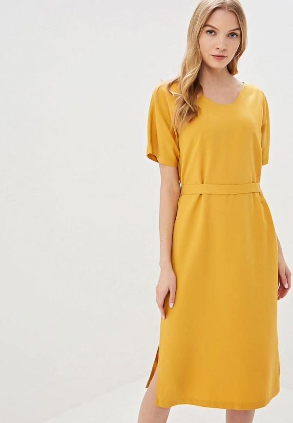 женское повседневные платье unq, желтое