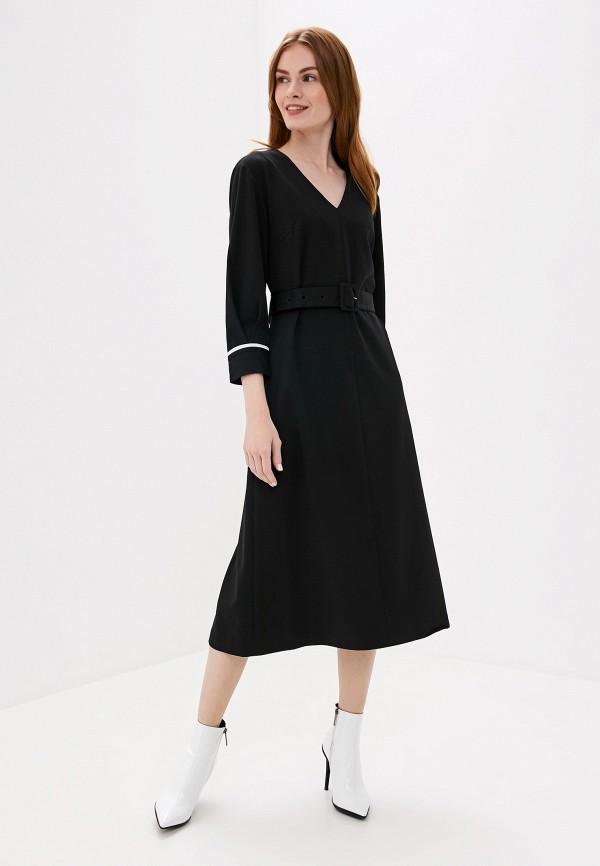 Фото 2 - женское платье UNQ черного цвета
