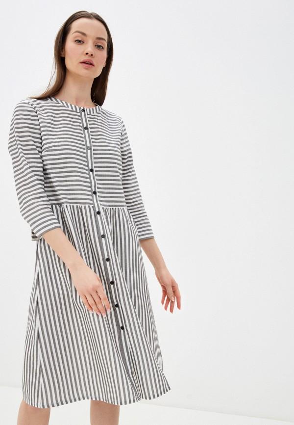 женское повседневные платье unq, серое