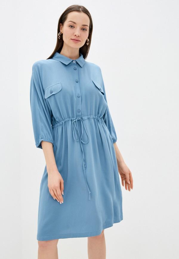 женское повседневные платье unq, синее