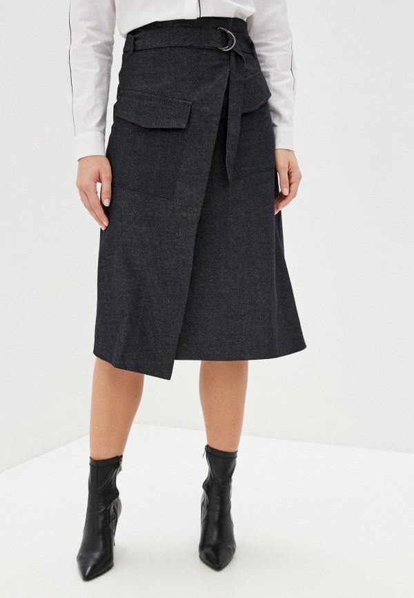 женская джинсовые юбка unq, черная