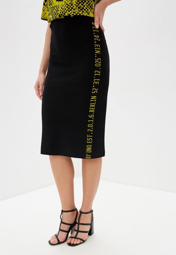 женская юбка макси unq, черная