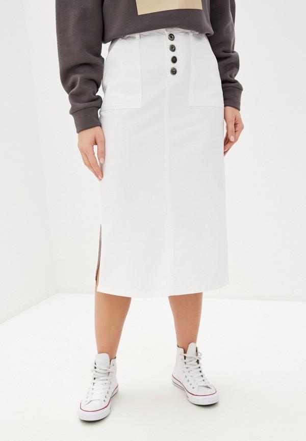 женская джинсовые юбка unq, белая