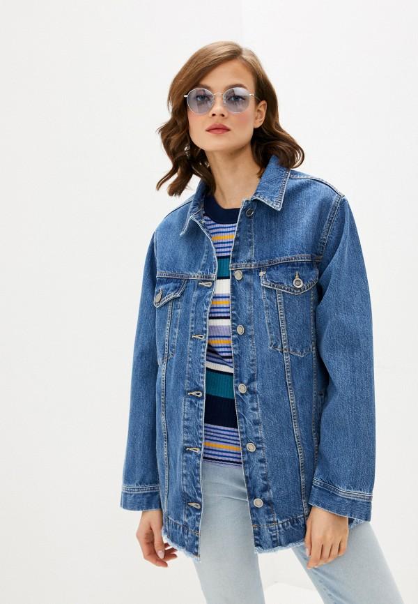 женская джинсовые куртка unq, синяя