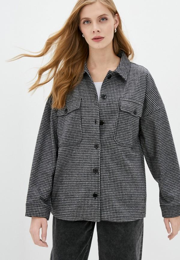 женская рубашка с длинным рукавом unq, серая