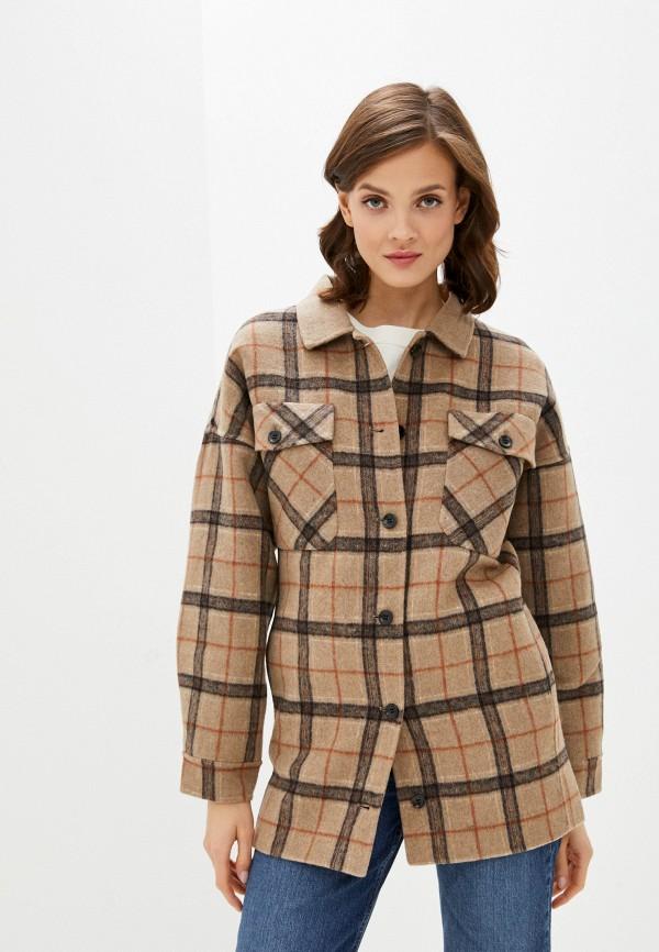 женское пальто unq, бежевое