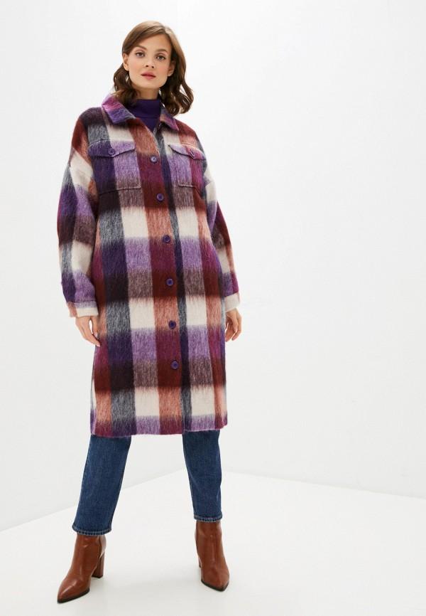 женское пальто unq, фиолетовое