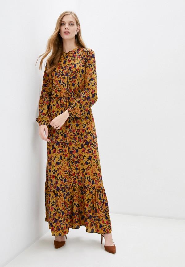женское повседневные платье unq, коричневое