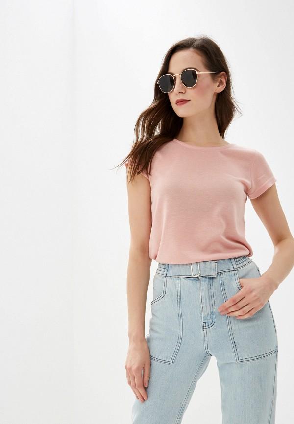 женская футболка urban surface, розовая