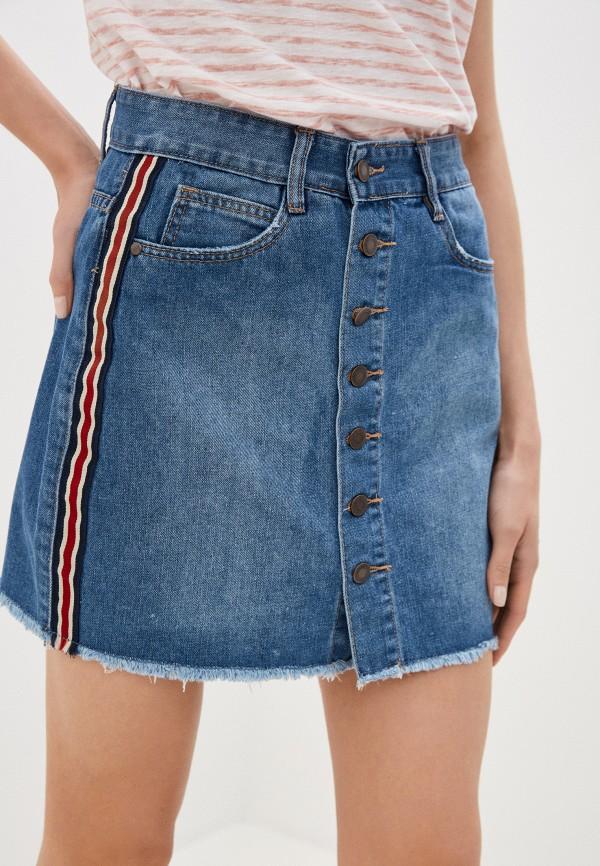 женская джинсовые юбка urban surface, синяя