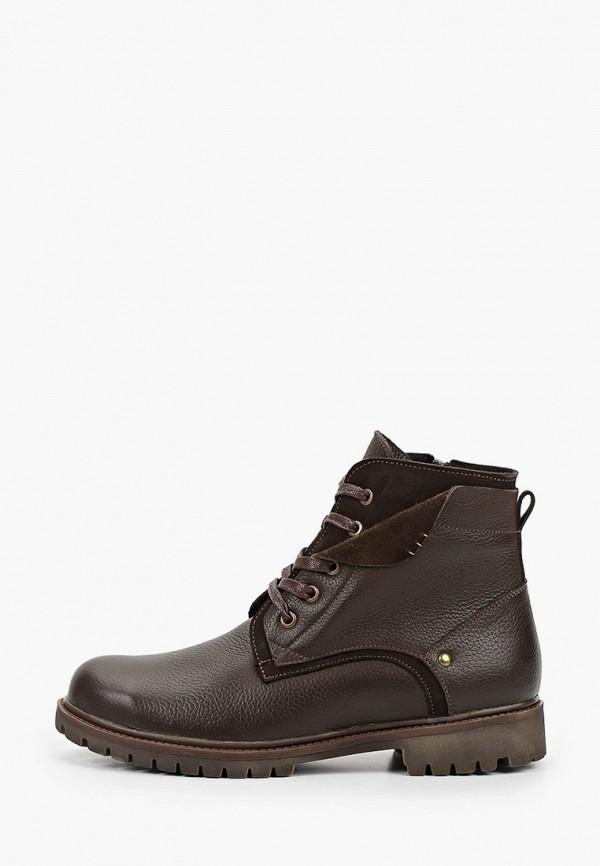 мужские высокие ботинки valley, коричневые