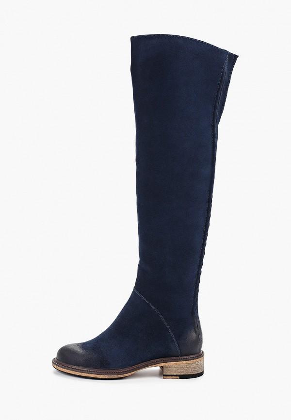 женские ботфорты valley, синие