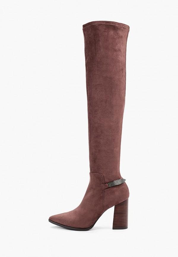 женские ботфорты valley, коричневые