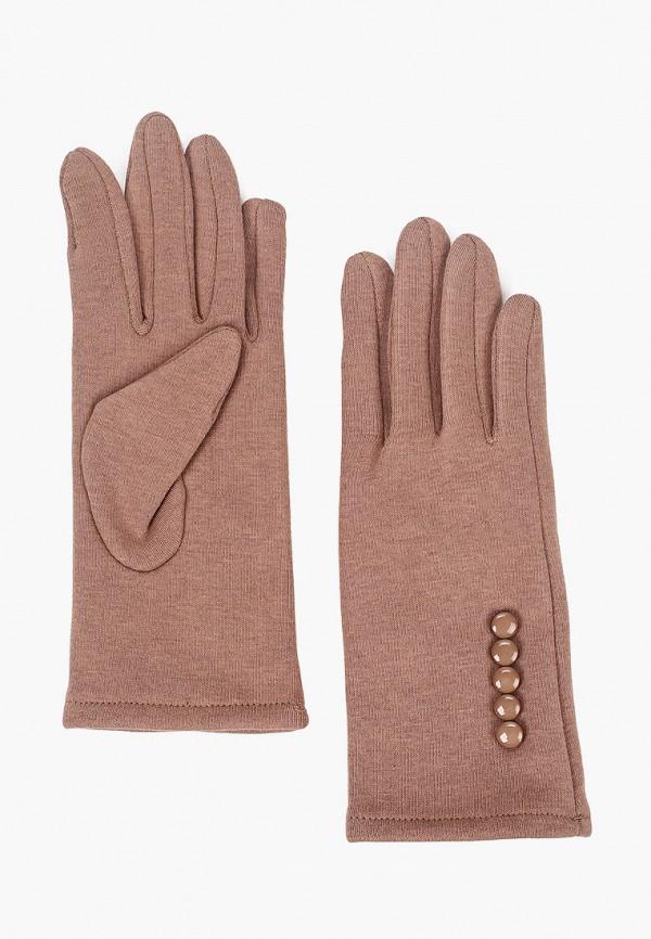 женские текстильные перчатки val vutti, коричневые