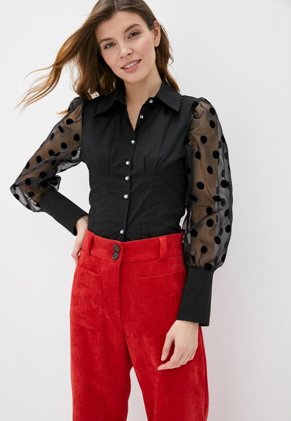женская блузка vagi, черная