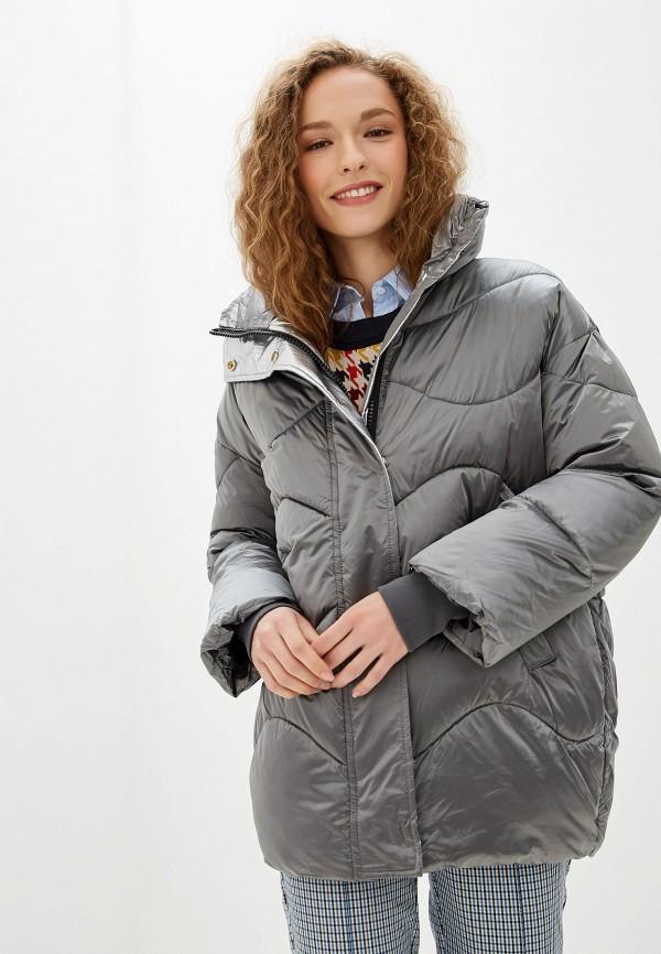 Фото - Куртку утепленная Vagi серого цвета