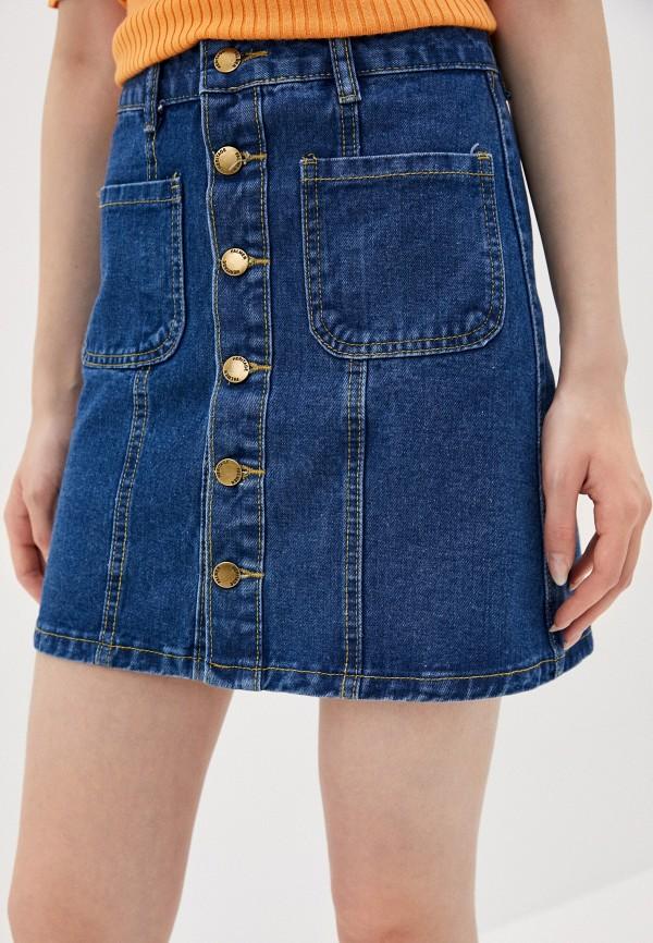 женская джинсовые юбка vagi, голубая