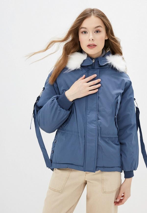 Фото - Куртку утепленная Vagi голубого цвета
