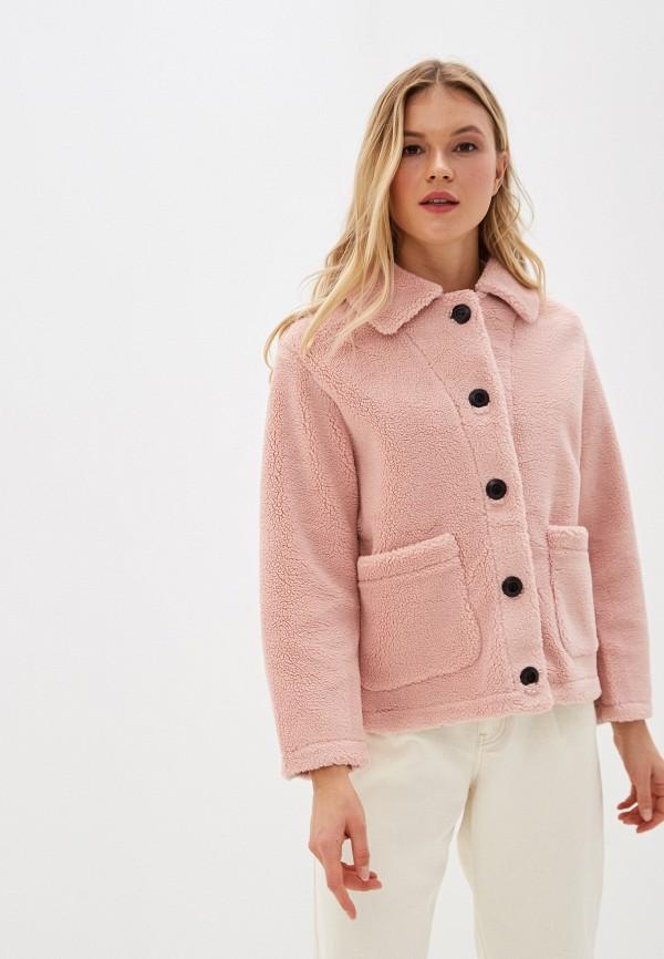 Фото - Женскую дублёнку или шубу Vagi розового цвета