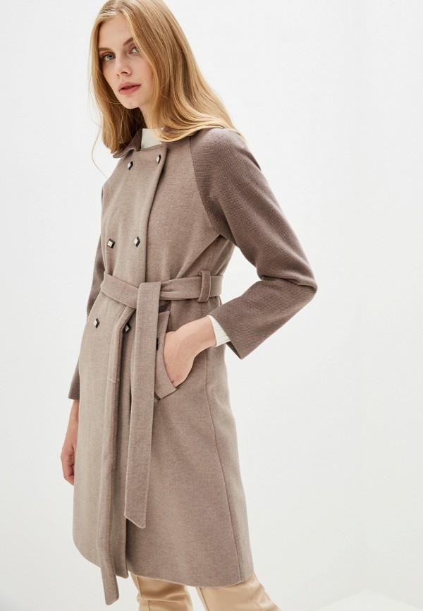 Фото - Женское пальто или плащ Vagi коричневого цвета