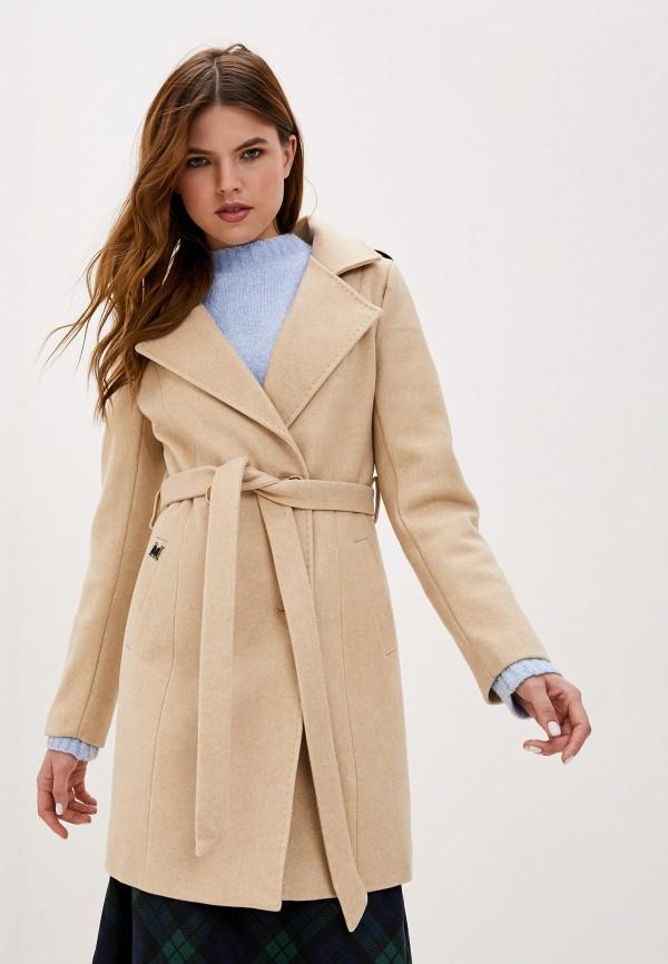 Фото - Женское пальто или плащ Vagi бежевого цвета