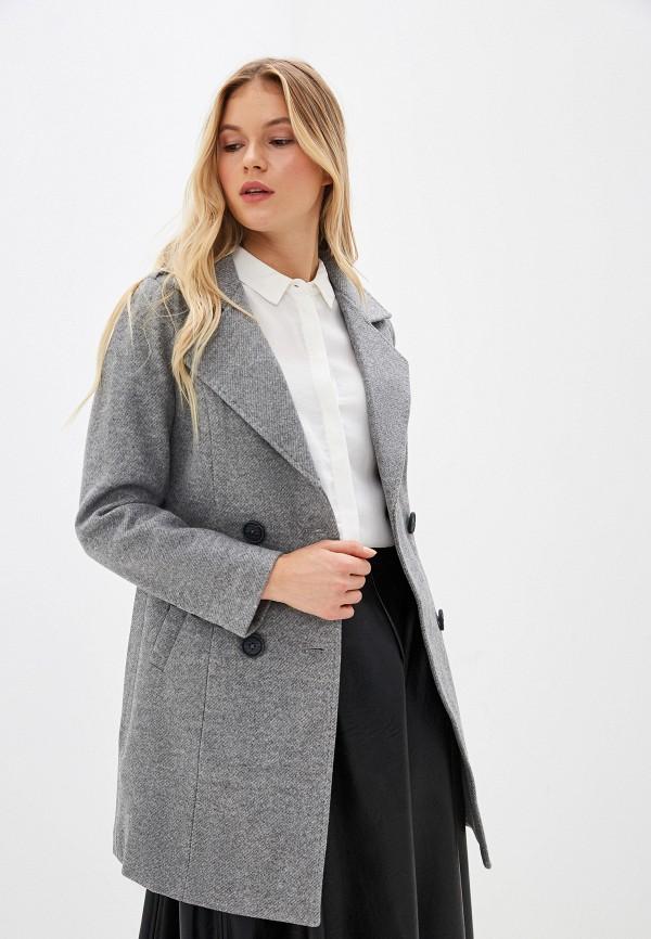 Фото - Женское пальто или плащ Vagi серого цвета