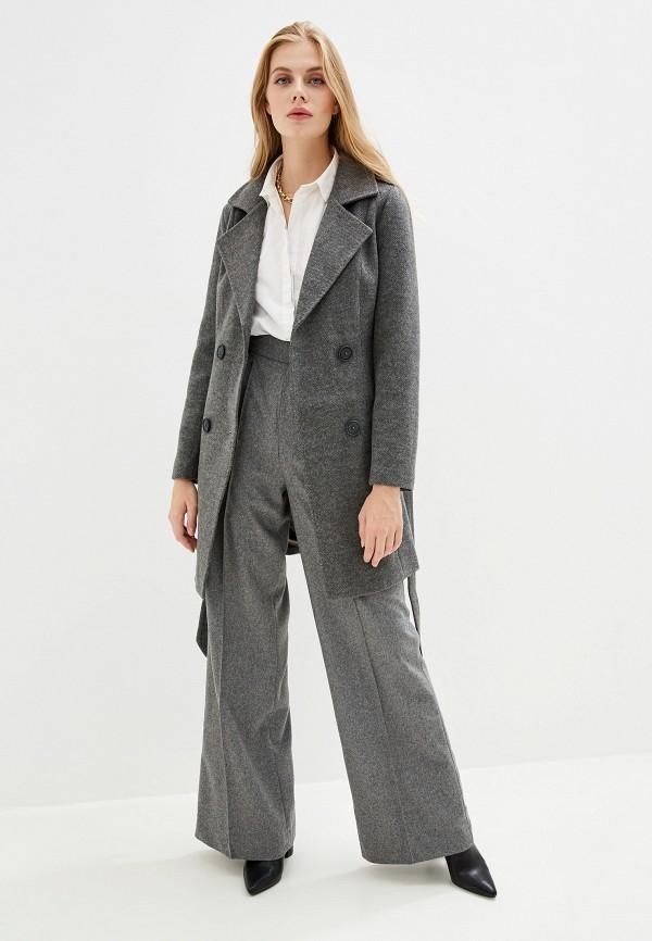 Фото 2 - Женское пальто или плащ Vagi серого цвета