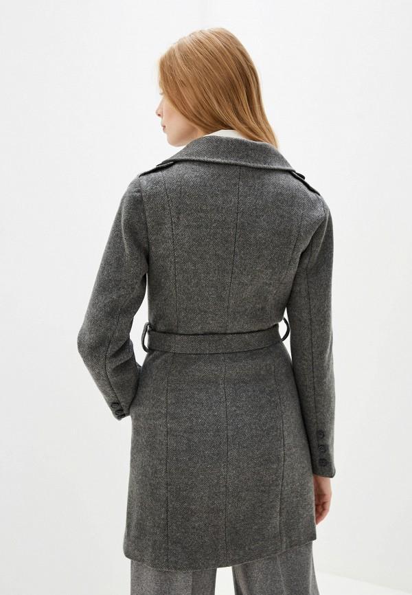 Фото 3 - Женское пальто или плащ Vagi серого цвета